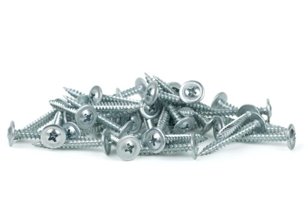 Pile of screws which have had hot dipped galvanising