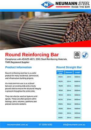 Round Reinforcing Bar product guide
