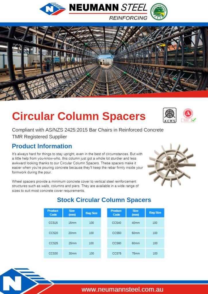 Circular Column Spacers product sheet