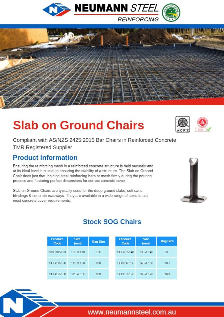 Slab On Ground Chairs product guide