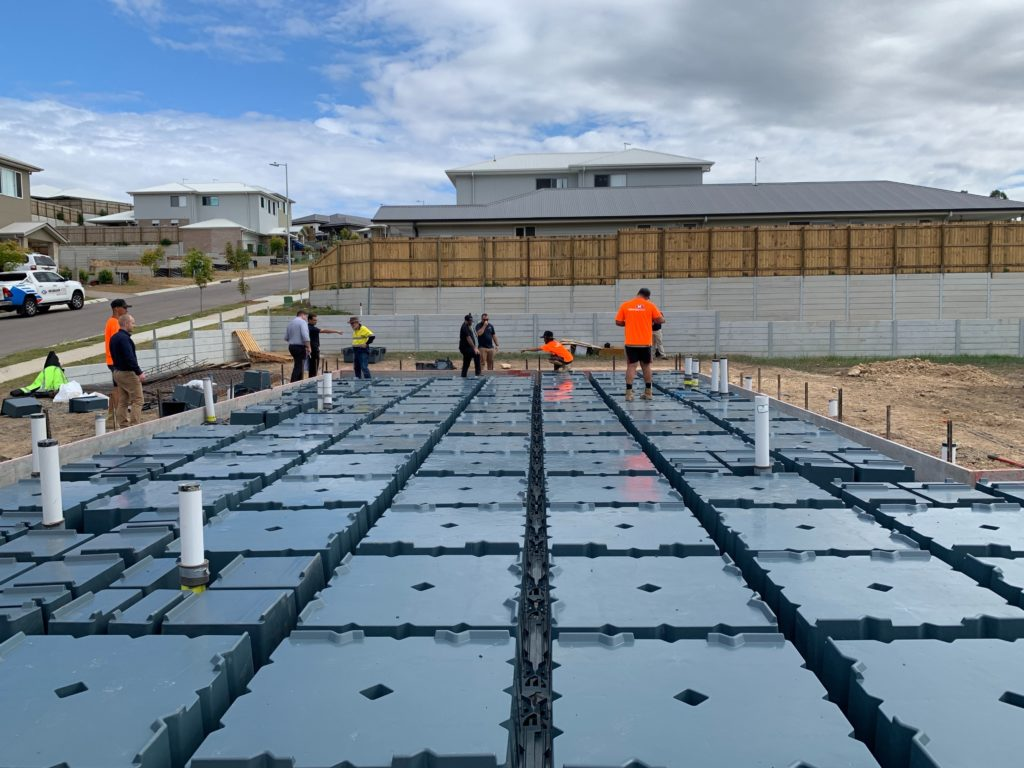 NuPod slab being prepped