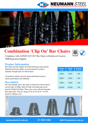 Combination 'Clip On' Bar Chairs