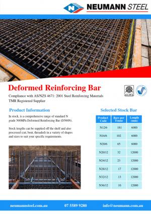 Deformed reinforcing bar