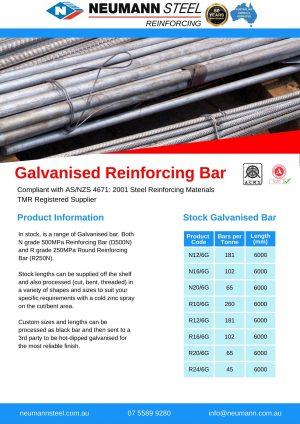 Galvanised Reinforcing Bar