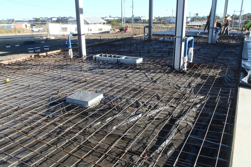 Galvanised steel reinforcing used at freedom fuels