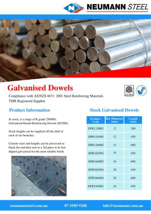 Galvanised Dowels