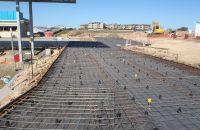 Steel mesh slab